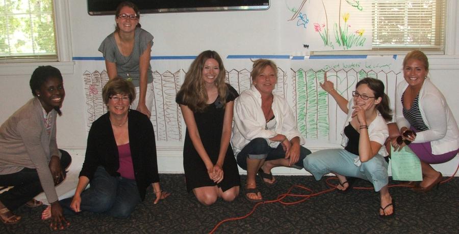 From left to right: Joyell, Barb, and VM23 classmates Dorsey, Krista, Kathy, Natalie, and Amanda