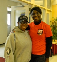 Delaware AmeriCorps member, left, and I