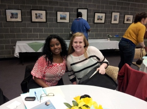 Nina Lewis, VMC at United Communities Against Poverty bonds with Kelli Magaw, VMC at Adkins Arboretum on Joint Training Day