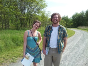 Kara Gross, VMC at Maryland Coastal Bays checks out Adkins Arboretum with her Site Supervisor, Bill