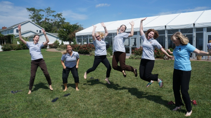 VM25 staff and Peer Leaders.  (Thanks to VM, I also have a new-found skill: jumping photos.)